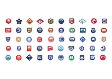 Collection of USA icons. Vector illustration decorative design