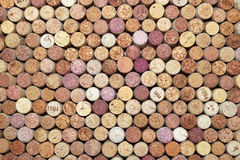 Collection of used wine corks from different varieties of wine. Close-up Royalty Free Stock Images