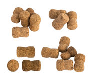 Collection of Used Wine Corks Isolated on White Background Royalty Free Stock Photos