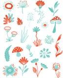 Collection végétale illustration de vecteur