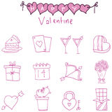 Collection valentine day of icons. Vector illustration Stock Photos