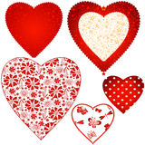 Collection valentine hearts Stock Photo