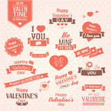 Collection of Valentines day vintage labels, typographic design Royalty Free Stock Image