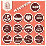 Collection of Valentines day vintage labels, typographic design Stock Photo