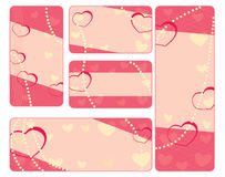 Collection of valentine tags with pearls Stock Photo