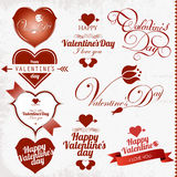 Collection of Valentines Day stamp Stock Photos