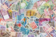 Collection of the variety  currency and banknotes Royalty Free Stock Photo