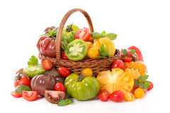 Collection of variey tomato Stock Images