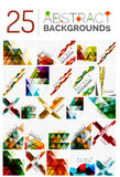 Collection of various abstract backgrounds, geometric style Stock Photo