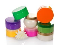 Collection of various beauty hygiene containers Stock Photo
