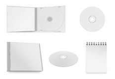 Collection of various blank white paper on white Royalty Free Stock Photo