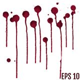 Collection various blood or paint splatters,Halloween concept,in. K splatter background, isolated on white royalty free illustration