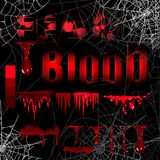 Collection various blood or paint splatters,Halloween concept,ink splatter background, isolated on black. Collection various blood or paint splatters,Halloween Stock Illustration