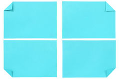Collection of various blue paper isolated Royalty Free Stock Images