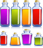 Collection of various bottles Stock Photography