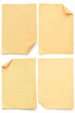Collection of various brown papers Royalty Free Stock Photography