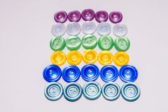 Collection of various buttons for clothes repair. Isolated. stock photography