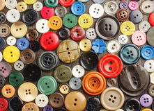 Collection of various buttons on the dark background Royalty Free Stock Photo