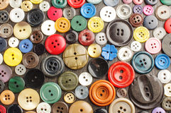 Collection of various buttons on the dark background Royalty Free Stock Images
