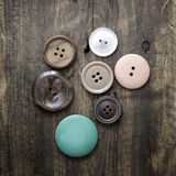Collection of various buttons Stock Photo