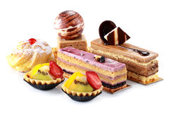 Collection of various cakes Royalty Free Stock Photography