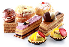 Collection of various cakes Royalty Free Stock Image