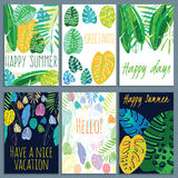 Collection of various cards with different textures and design. Ready  design card and poster template Stock Photo