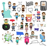 Collection of Various Cartoon Graphics Stock Photos