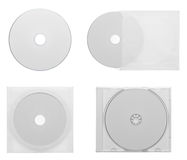 Collection of various CD - DVD isolated on white Stock Photo