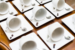 Collection of various coffee cups royalty free stock image