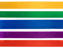 Collection of various colorful ribbons Royalty Free Stock Image