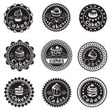 Collection of various cupcakes labels Royalty Free Stock Photography