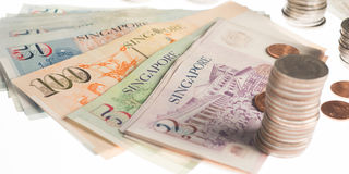 A collection of various currencies from countries the globe Royalty Free Stock Images