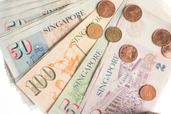 A collection of various currencies from countries the globe Stock Image