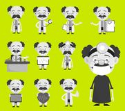 Collection of Various Doctor Concepts and Gestures Vector Royalty Free Stock Image