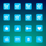 Collection of various e-shop icons Royalty Free Stock Photo