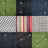Collection of various fabric textures Stock Images