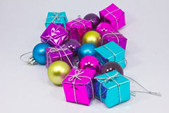 Collection of various gift wrapped presents Stock Photography