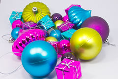 Collection of various gift wrapped presents Stock Photo