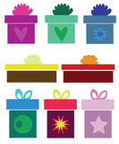 Collection of various gifts Stock Image