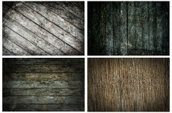 Collection of various grunge wood background Stock Photo
