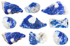 Collection of various Lazurite stones Royalty Free Stock Image