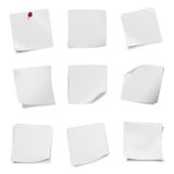 Collection of various leaflet blank white paper on white background. stock image