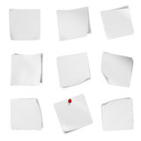 Collection of various leaflet blank white paper on white background. Stock Photography