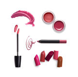 Collection of various lipstick Stock Photography