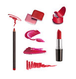 Collection of various lipstick. Isolated on white Royalty Free Stock Photo