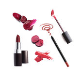 Collection of various lipstick. Isolated on white Royalty Free Stock Photography