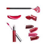 Collection of various lipstick. Isolated on white Royalty Free Stock Photos