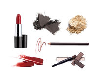 Collection of various make up accessories. Isolated on white Royalty Free Stock Image