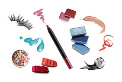 Collection of various make up accessories Royalty Free Stock Image